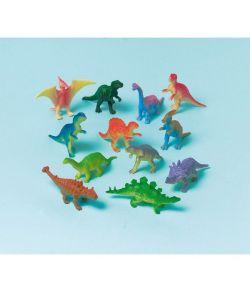 12 stk mini dinosauer figur