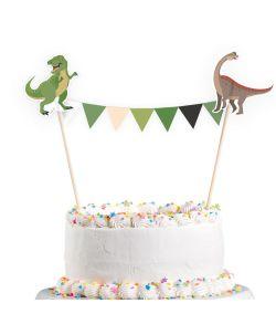 Kagepynt med dinosaurer til børnefødselsdagen
