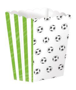 4 stk fodbold popcorn bægre til børnefødselsdagen