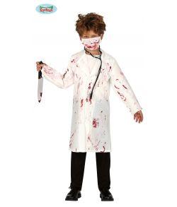 Blodigt læge eller tandlæge kostume til drenge.