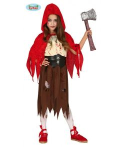 Blodigt Rødhætte kostume til piger.