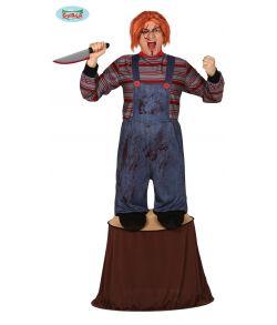 Uhyggelig dukke kostume til voksne.