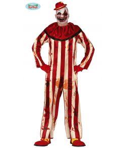 Blodigt klovne halloween kostume til voksne.