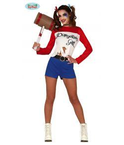 Crazy Harlequin kostume.