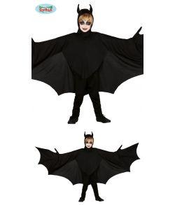 Flagermus kostume med store vinger til børn.