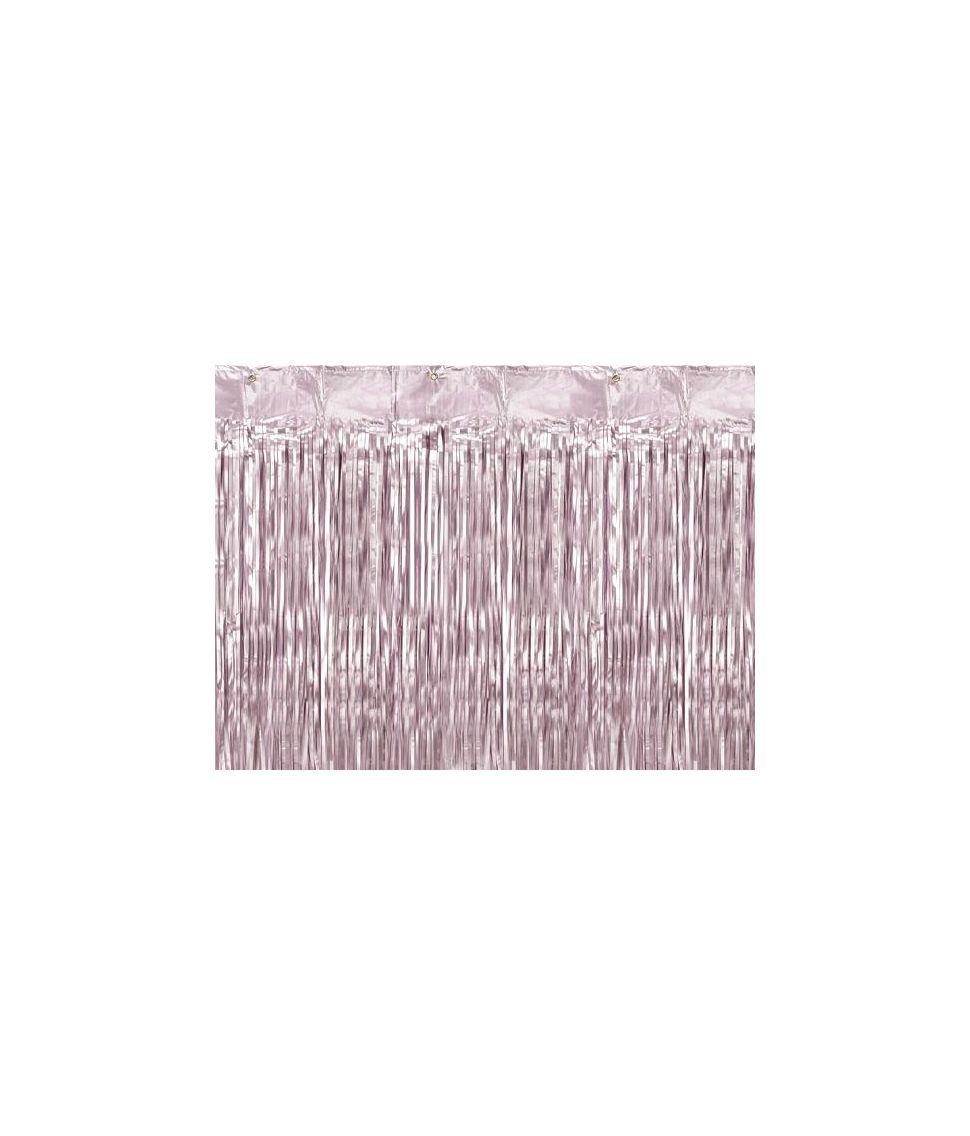 Billigt lyserødt folie dørgardin til barnedåb