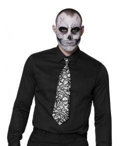 Sort slips med kranier til halloween udklædningen