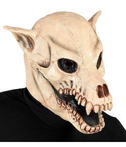 Hundekranie maske i latex til halloween.