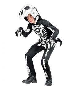 T-rex skelet kostume til børn.