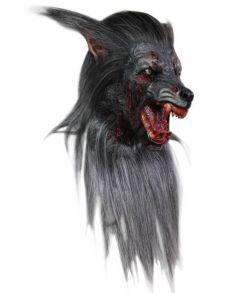 Blodig varulv maske med pels fra Ghoulish