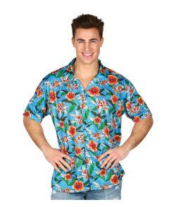 Lyseblå Hawaii skjorte til voksne.