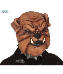 Bulldog Latex maske.