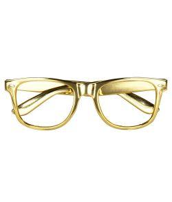 Guld briller uden glas 3 stk