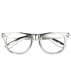 Sølv briller uden glas 3 stk
