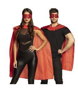 Rødt superhelt udklædningssæt ,