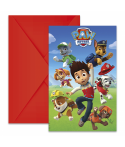 Paw Patrol invitationer 6 stk