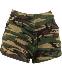 Hotpants med camouflage mønster
