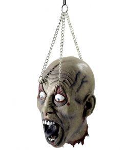 Afrevet hoved i kæde.
