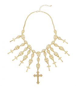 Kranie og kors halskæde.