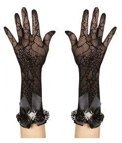 Lange handsker med edderkop