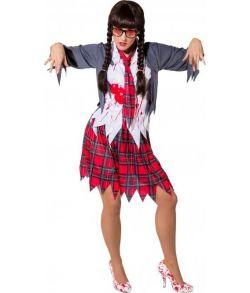 Zombie Skolepige kostume.