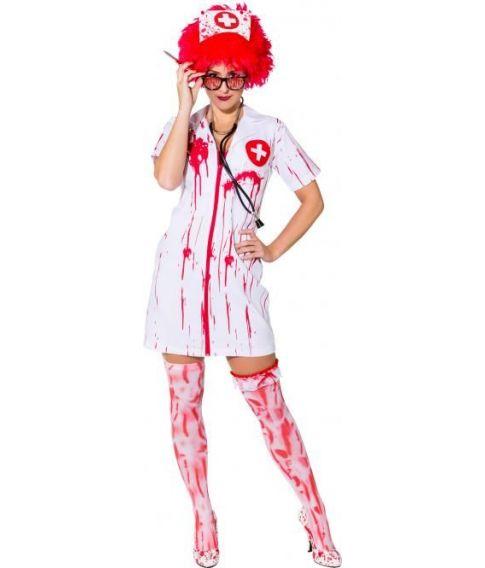 Zombie sygeplejerske kostume til voksne.