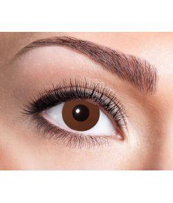 Brune kontaktlinser.