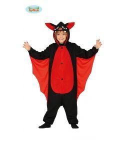 Flagermus kostume med jumpsuit med hætte og vinger