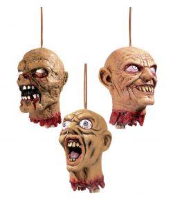Uhyggeligt afrevet hoved til halloween.