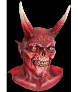 Rød djævle latex maske