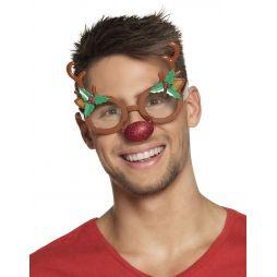 Sjove briller med gevir og næse til julefrokosten.