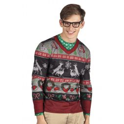 Sjov bluse til julefrokosten.