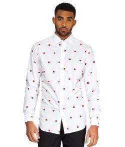 Juleskjorte til mænd med julegaver.