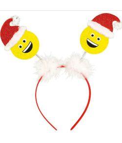 Jule emoji på hårbøjle
