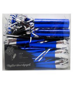 Nytårspynt 14 dele i blå og sølv.