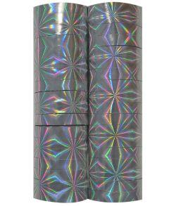 Nytårs serpentiner, sølv holografiske