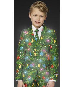 Flot julejakkesæt med lys til drenge.