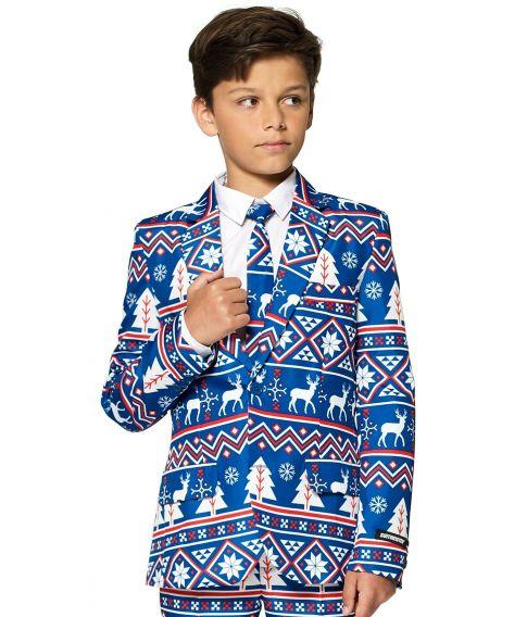 Flot jakkesæt til drenge med julemotiver.