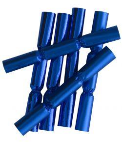 6 stk. metallic nytårsknallerter i blå