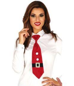 Rødt juleslips med elastik