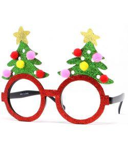 Briller med juletræer.