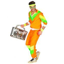 80er joggingdragt i neonfarver.