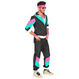 Sort 8er joggingdragt til udklædning.