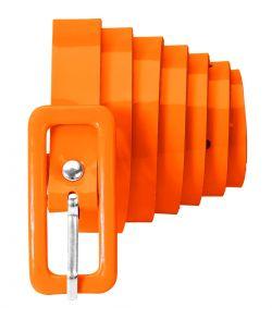 Orange bælte til 80er udklædning.