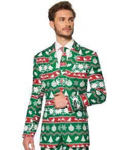 Grønt jule jakkesæt.