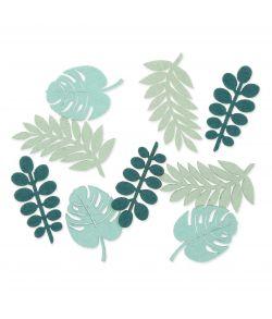 18 stk. blade i grøn og mint