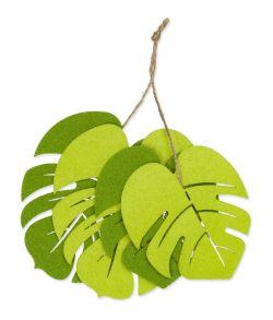 Store filt blade i to nuancer lys grøn og grøn