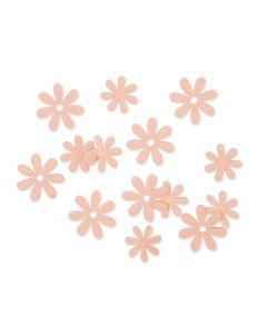Filt blomster Abrikos, 72 stk.