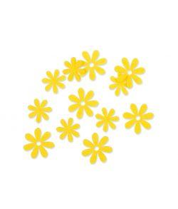Filt blomster gul, 72 stk.