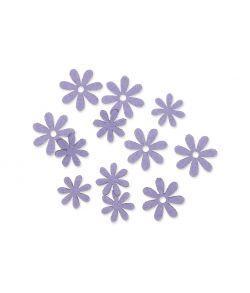 Filt blomster lavendel, 72 stk.